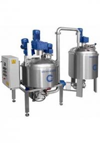 Автоматический миксер для приготовления крема с баком для хранения приготовленного крема